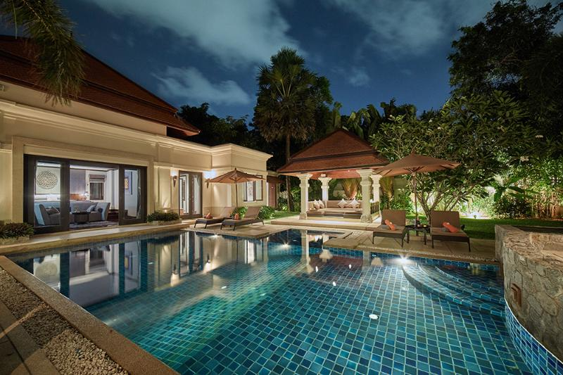 Pool at sunset - Child Friendly Villa offers transport and catering - Phuket - rentals
