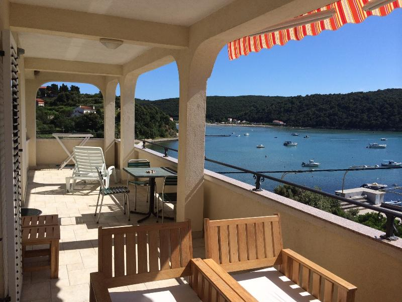 Terrace - App with sea and sunset view - A3 - Villa Trlika - Rab - rentals