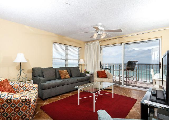 New Living room Furniture as of February 2015! - TP 505:PERFECT BEACHFRONT RETREAT 2BR CORNER UNIT! - Fort Walton Beach - rentals