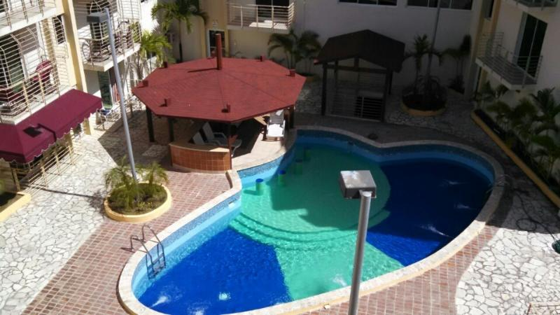 Pool Area - Gorgeous Three Level Penthouse By the Beach - Boca Chica - rentals