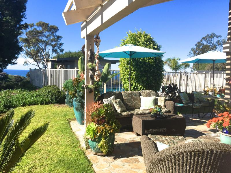 Patio with Ocean View - SAN CLEMENTE TROPICAL GETAWAY OCEAN VIEWS & RELAXATION ALOHA! - San Clemente - rentals