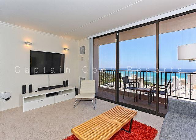 """WOW"" Ocean Views!  Plus A/C, WiFi, Pool, Parking, Close to beach!  Sleeps 4. - Image 1 - Waikiki - rentals"