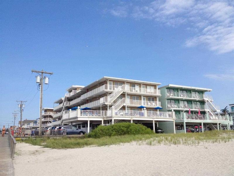 View of Summer Sands from the beach - Great family friendly condo! Steps from the beach! - Wildwood Crest - rentals