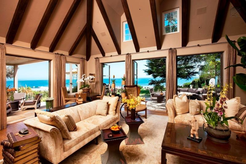 The formal living room doesn't feel so formal when you open the doors and let that ocean air inside. - Possibly the most luxurious beachfront home in Montecito - Montecito Beach Estate - Montecito - rentals