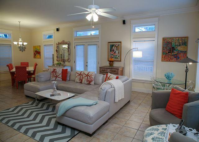Living Area - 2nd Floor - Steps Away From Sugar Sands and Emerald Waters-5 Bedroom with Pool! - Santa Rosa Beach - rentals