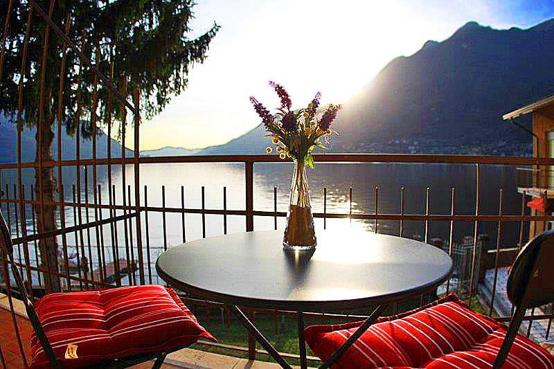 Simply stunning 180 degree Views of Lake Como from private balcony - PRIVATE BEACH - SWIMMING - LIDO -  Villa Divino - Pognana Lario - rentals