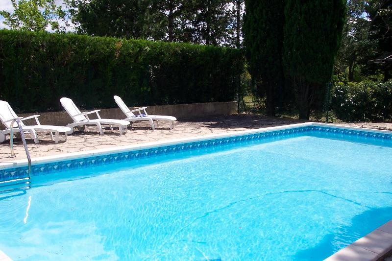Pool - View from the gate - La Bardane - Carnas - rentals