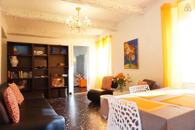 FREE wifi and TV in the living room area...lots of ambient light because we are on a corner! - Outstanding Cote D'Azur, Nice Apartment Rental with Internet - Nice - rentals