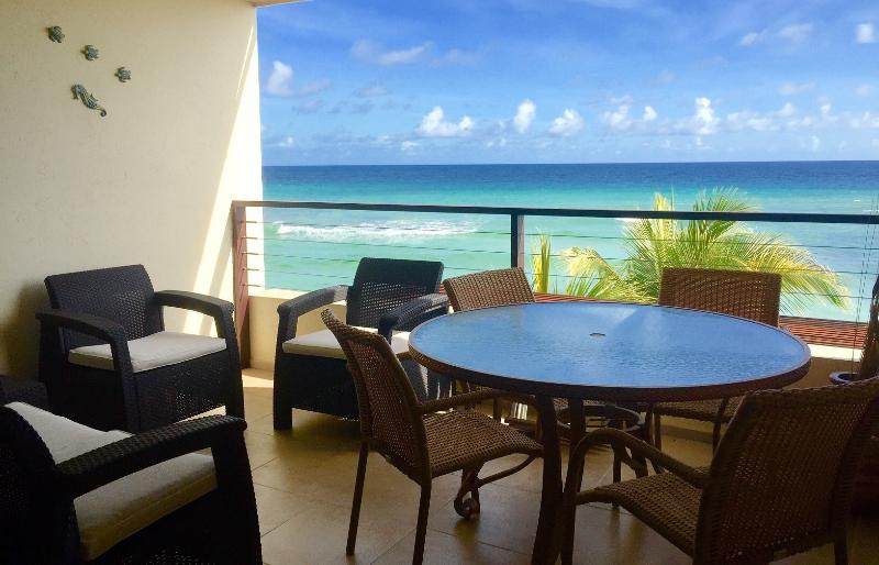 Al-Fresco Dining on the patio - St Lawrence Beach Condominiums - Sunset Beach - Saint Lawrence Gap - rentals