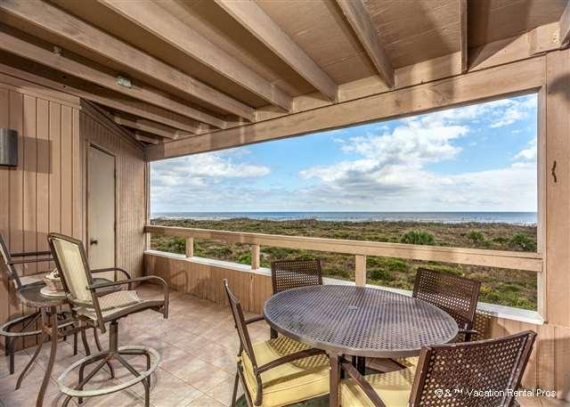 Listen to the surf from our balcony - Hibiscus 202-B Ocean Front, 3rd floor, 3 bedrooms, 3 pools, HDTV - Saint Augustine - rentals