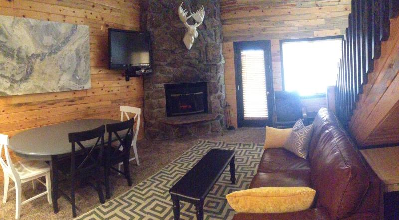 "Main great room open to kitchen with fireplace. also is also a sleeper - ""Nestled Inn""our cozy Ski Mountain Getaway for 10 - Granby - rentals"