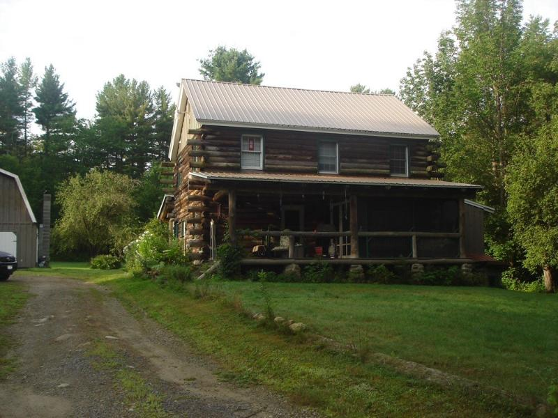 Front view of the house coming up the drive - Adirondack Mountain getaway on 11 private acres - Wells - rentals