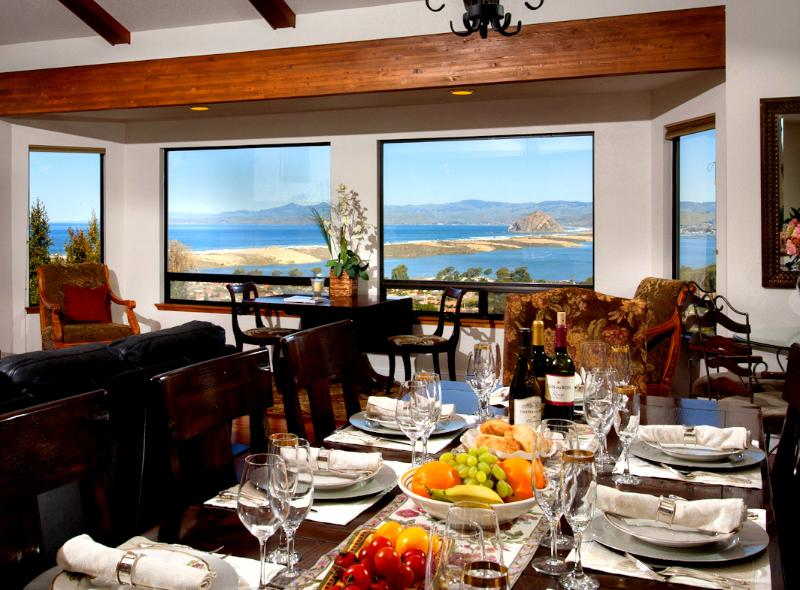 Great room is open to dining and kitchen. Table seats 12. Spectacular views from all areas. - Amazing Ocean View *Fall Free Nights! - Morro Bay - rentals
