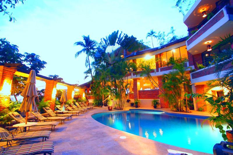 Cobalt blue glass private pool - Exclusive Luxury 12bd Staffed private villa w/pool - Puerto Vallarta - rentals