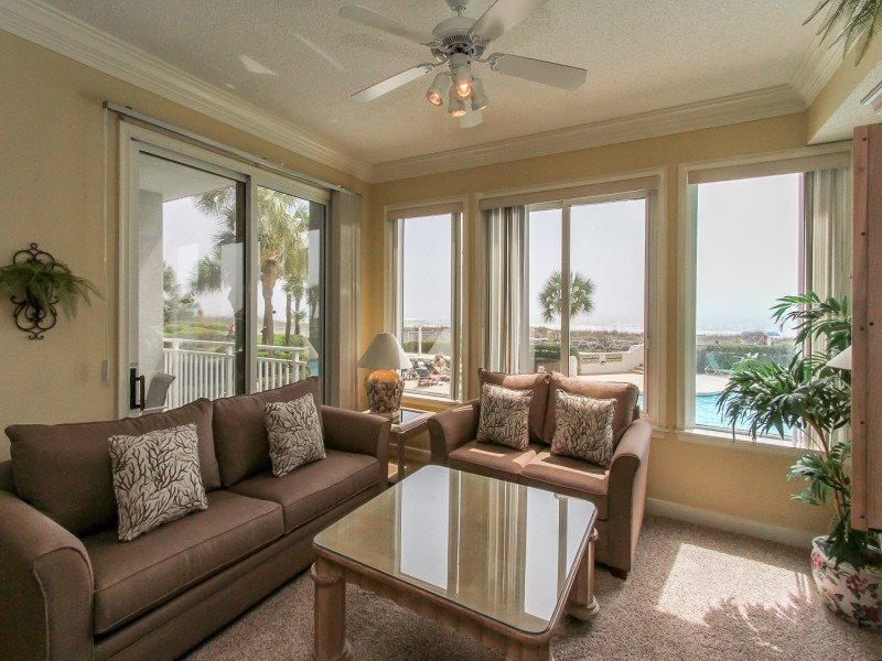 Living Room with Ocean Views at 3102 Sea Crest - 3102 Sea Crest - Hilton Head - rentals