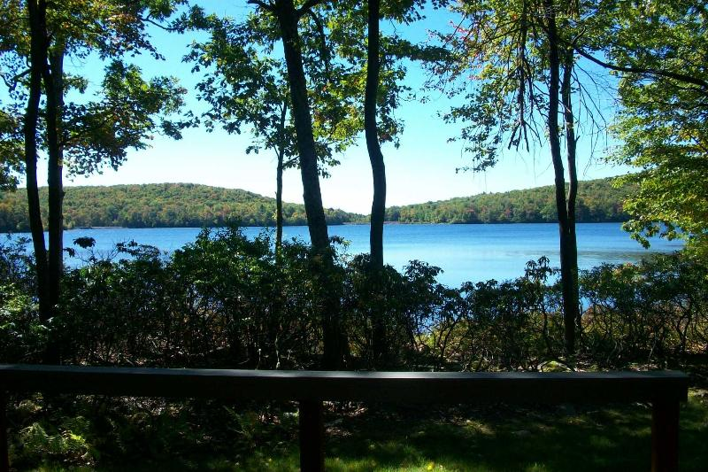 Breathtaking summer view from rear deck - OMG the View! Spectacular LAKEFRONT @ Big Boulder! - Lake Harmony - rentals