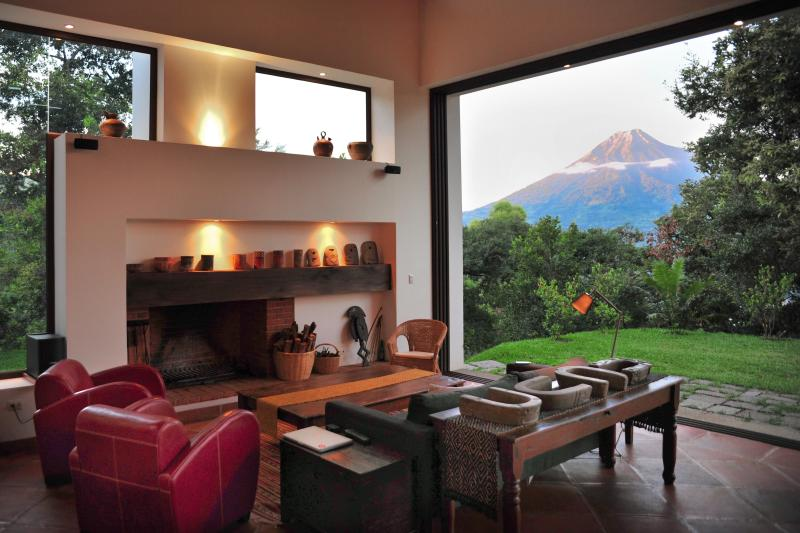 Striking views from the lounge area - Spectacular design with sunset volcano views - Antigua Guatemala - rentals