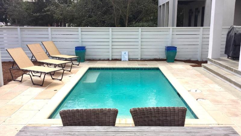 Patrick's Cottage with Large 16' x 9' Salt Water Pool.  Spacious Lounging area. - PATRICK'S COTTAGE - Rosemary Beach - rentals
