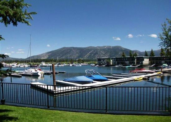 171A-Tahoe Keys beach right out the front door! Unit has boat slip, great mountain views - Image 1 - South Lake Tahoe - rentals