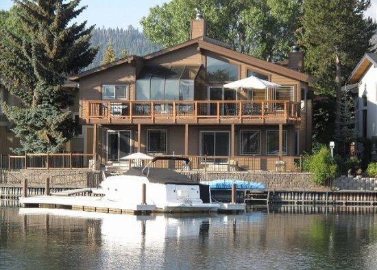 V7-Beautiful Tahoe Keys gem of a home! The perfect family get away with dock, close to main Lake entrance - Image 1 - South Lake Tahoe - rentals