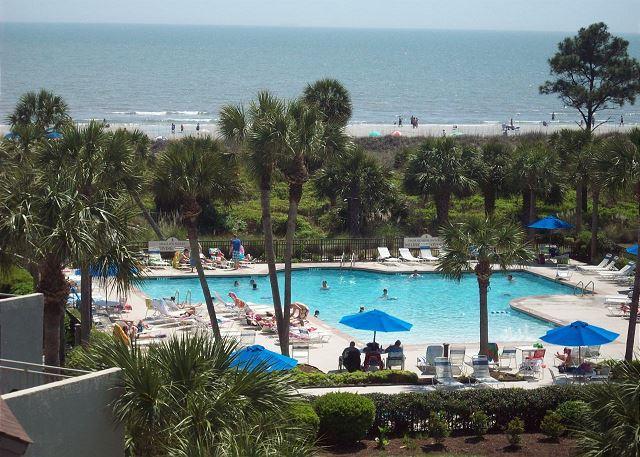 pool view - Shorewood 431 - Oceanview 4th Floor - Hilton Head - rentals