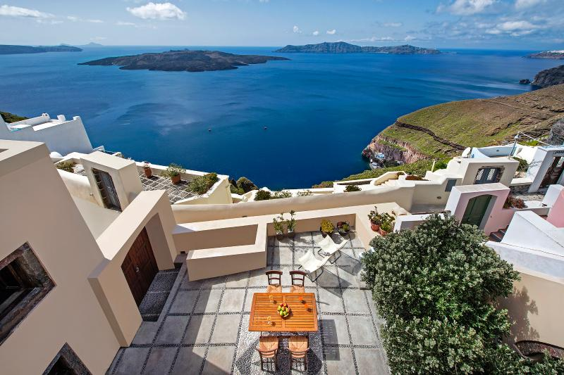 View from terrace - Aeon Villa - Elegant villa in Thira - Fira - rentals
