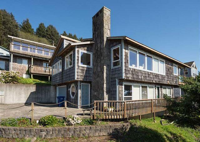 Roads End Ocean View Home with Hot Tub-Two Full Kitchens - Image 1 - Lincoln City - rentals