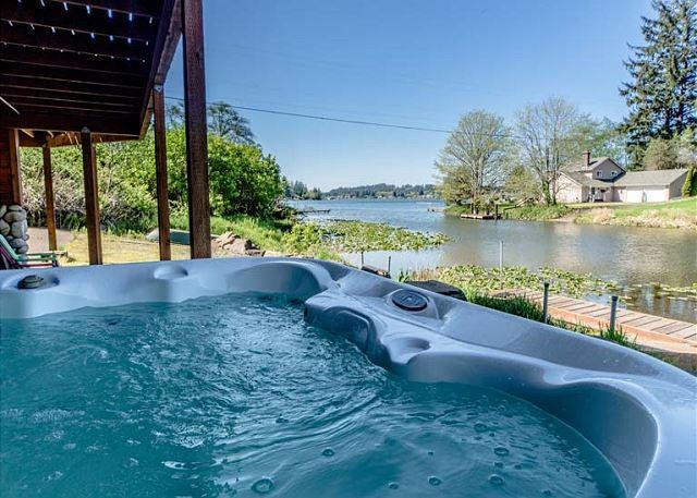 Gorgeous Lakefront Home with Lakeview Hot Tub - Image 1 - Otis - rentals