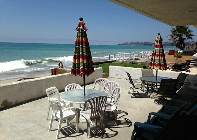 View of Dana Point from Your Private Patio - Beach Condo Right on the Sand- MONTHLY $6500 to $9,000 - Capistrano Beach - rentals