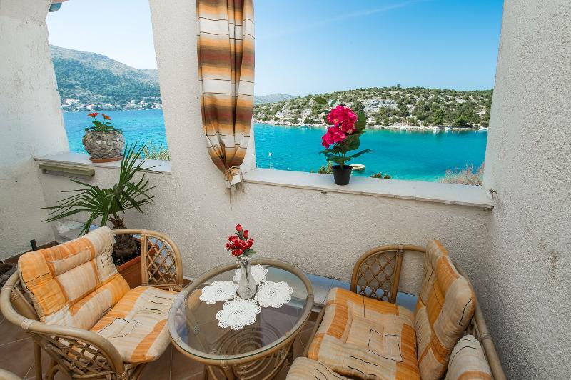 A2(4) Adria: balcony view - 4916  A2(4) Adria - Grebastica - Grebastica - rentals