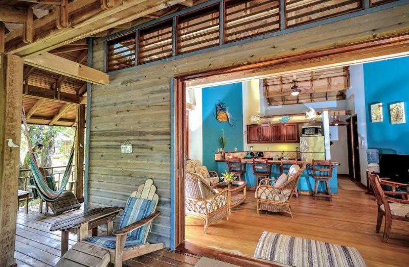 Indoor/outdoor living - Casa Concha - 150' from the beach - sleeps 8 - Roatan - rentals