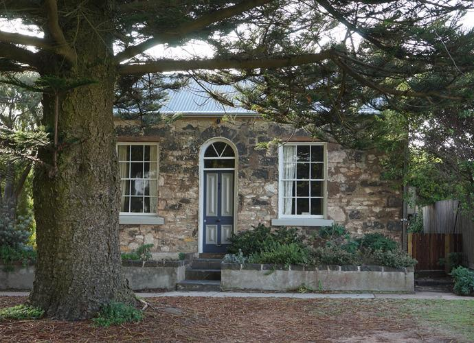 Nestled beneath our giant Norfolk pines - No1 William St - historic stone cottage - Port Fairy - rentals