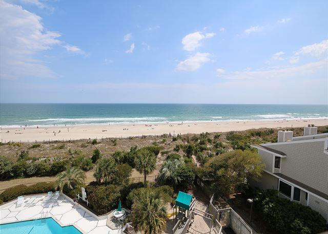 Station One - 5J Grine - Oceanfront condo with community pool, tennis, beach - Image 1 - Wrightsville Beach - rentals