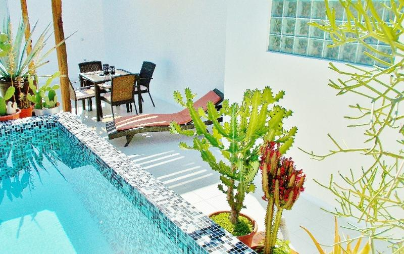Terrace with pergola and relaxing pool - CASA NAAJ 2, Charming Apartment (2-3 people) - Playa del Carmen - rentals