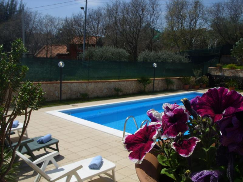 Private pool for the exclusive use of the guests, with sun loungers and parasols. - Villa A.R. pool, garden,views Etna and  Ionian sea - Acireale - rentals