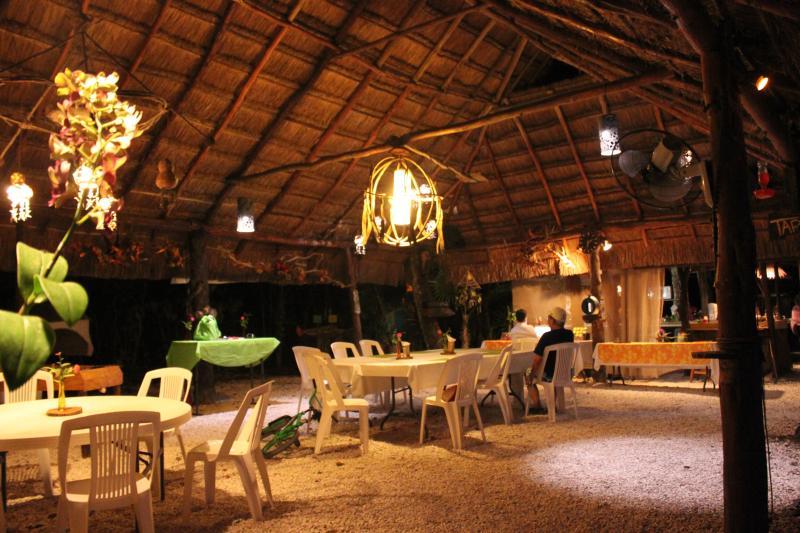 Comedor 60mts2 - Gran Villa para 16 personas con Cenote Privado. - Cancun - rentals