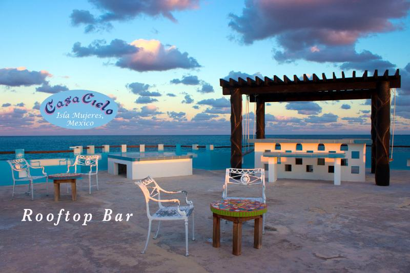 Welcome to Casa Cielo with its rooftop bar and a 360 degree view of the entire island. - Casa Cielo - Isla Mujeres - rentals