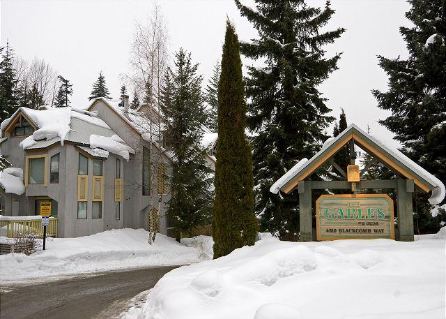 Entrance to The Gables Complex - The Gables #45 | 2 Bedroom Townhome, Parking, Short Walk to Both Mountains - Whistler - rentals