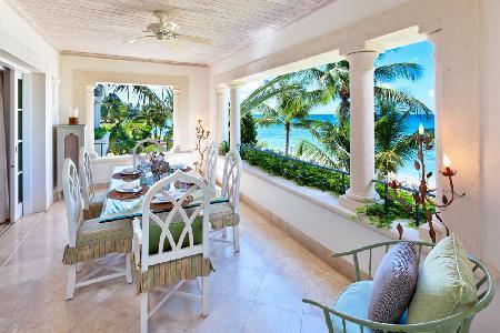 Flamboyant at Schooner Bay (201)- Caribbean sea view, amenities & steps to beach - Image 1 - Speightstown - rentals
