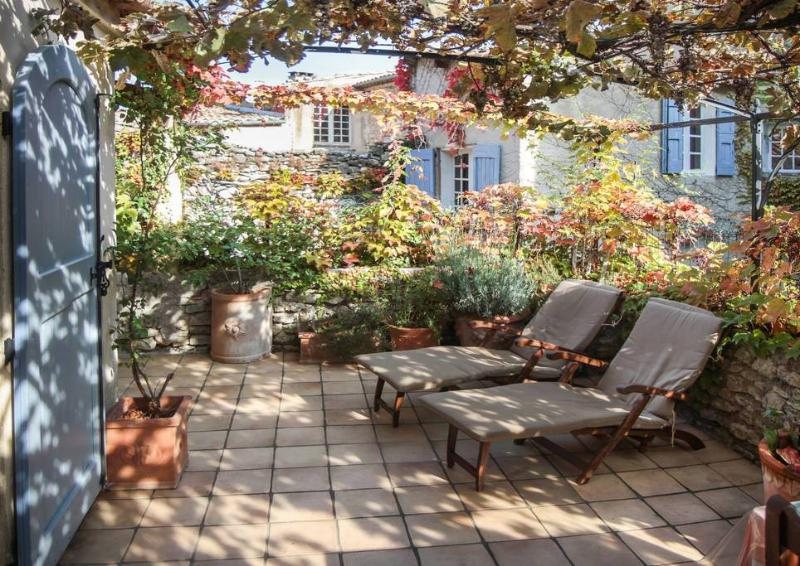 Relax on your own private terrace - Charming Provence Rental with a Grill, Garden, and Balcony - Forcalquier - rentals