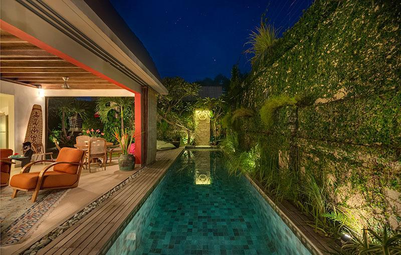 Evening poolscape - Rumah 88, Seminyak - Seminyak - rentals