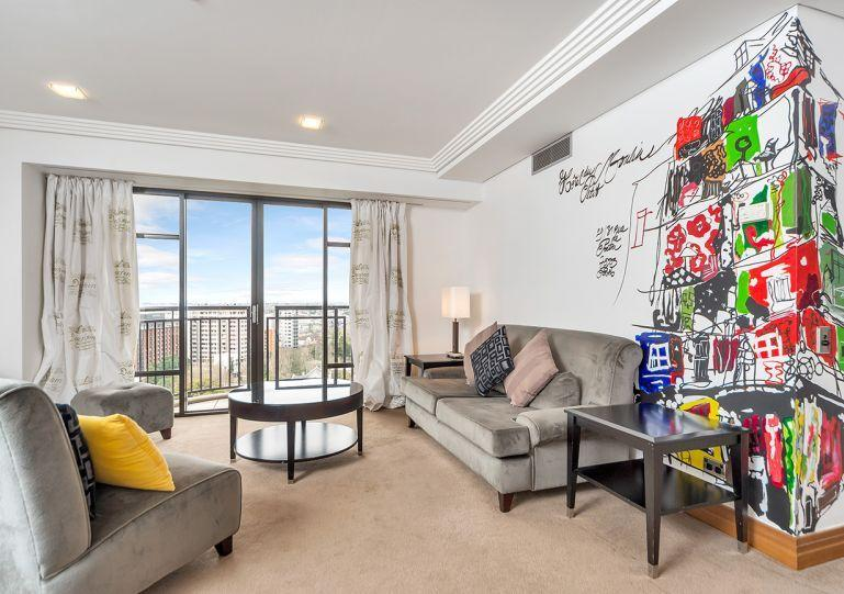Funky modern dĂŠcor - Spacious Metropolis Reisdences 1 Bedroom Serviced Apartment. Views over Auckland City, Harbour and Albert Park. - Auckland - rentals