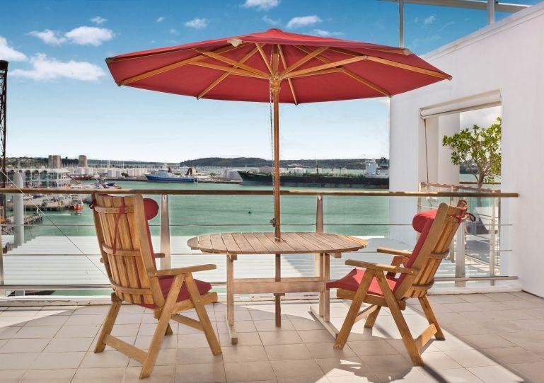Beautiful sunny deck overlooking the harbour. - Spacious 3 Bedroom Apartment on Princes Wharf Shed 23, Auckland near Hilton Hotel with Parking - Auckland - rentals