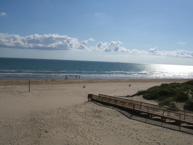 All you have to do to get to the beach is go down to the 1st floor and take this beach walk - South Padre Island Beachfront Condo for Rent - South Padre Island - rentals