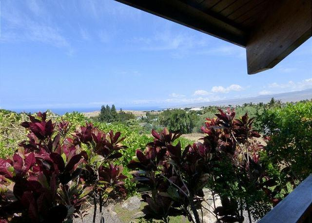 Views of the coastline, Kohala mountain, and magnificent sunsets are enchanting - Distinctive Custom Cedar Home -with Ocean & Mountain Views! - Waikoloa - rentals