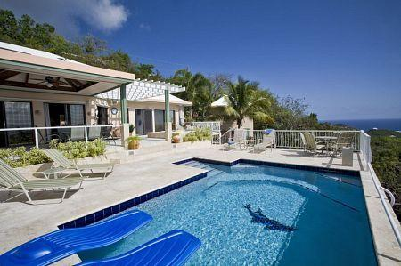 """Allesandra"" is a 3 bedroom 3 bath luxury airconditioned villa located in Estate Chocolate Hole. - Villa Allesandra - great views - sunsets - all AC - tropical setting - Virgin Islands National Park - rentals"