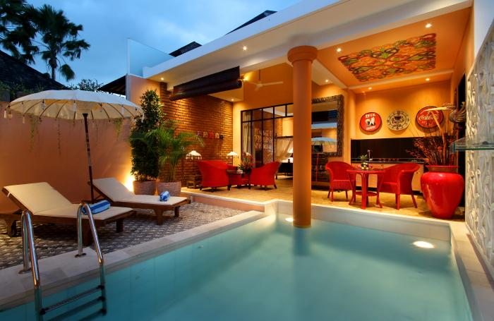 Colorful and modern villa 500m from Seminyak beach - Image 1 - Seminyak - rentals