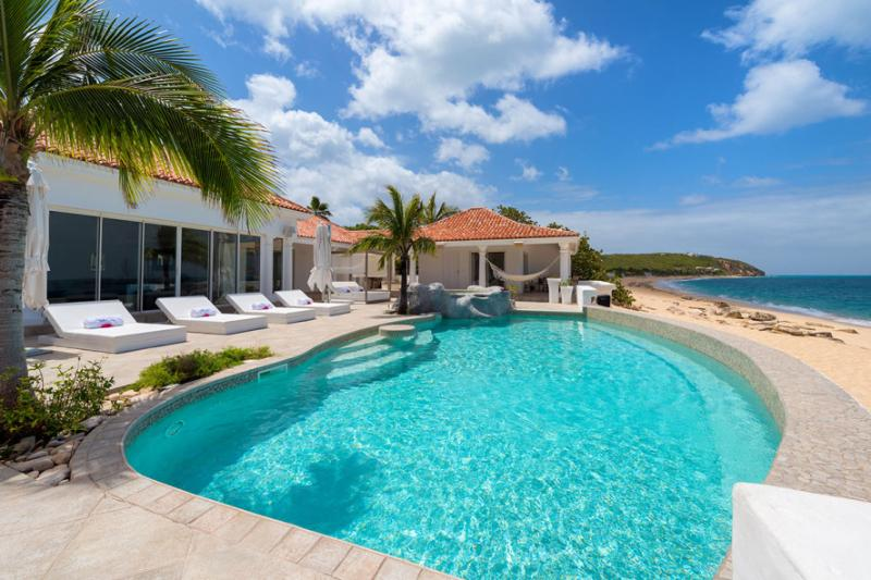 Villa Carisa, Baie Rouge Beach, Terres Basses, St Martin 800 480 8555 - CARISA ... Super Luxury on  a fabulously soft sandy beach - Baie Rouge - rentals