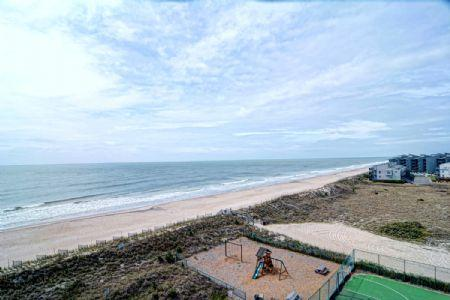 Oceanview from Balcony - ST. Regis 1505 - North Topsail Beach - rentals