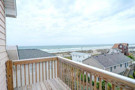 Oceanview From Top-Deck - 8400 4th Avenue - North Topsail Beach - rentals